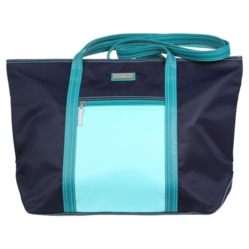 Womens Cosmopolitan Nylone Tote Handbag, Blue/Blue