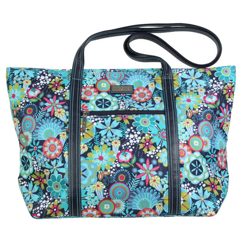 Womens Cosmopolitan Nylone Tote Handbag, Navy Base/Blue