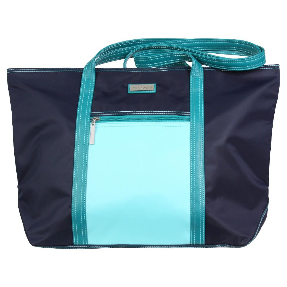 Womens Cosmopolitan Nylone Tote Handbag, Blue