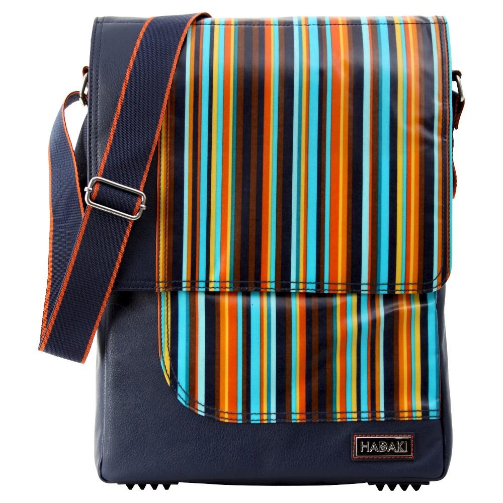 Womens 15.4 Nylon Laptop Handbag, Multi-Colored/Orange/Blue/Black