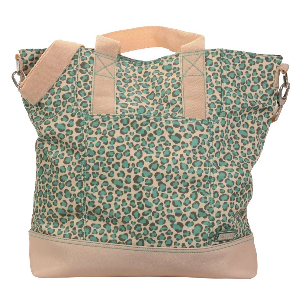 Womens Nylon French Market Tote Handbag, Brown Clay