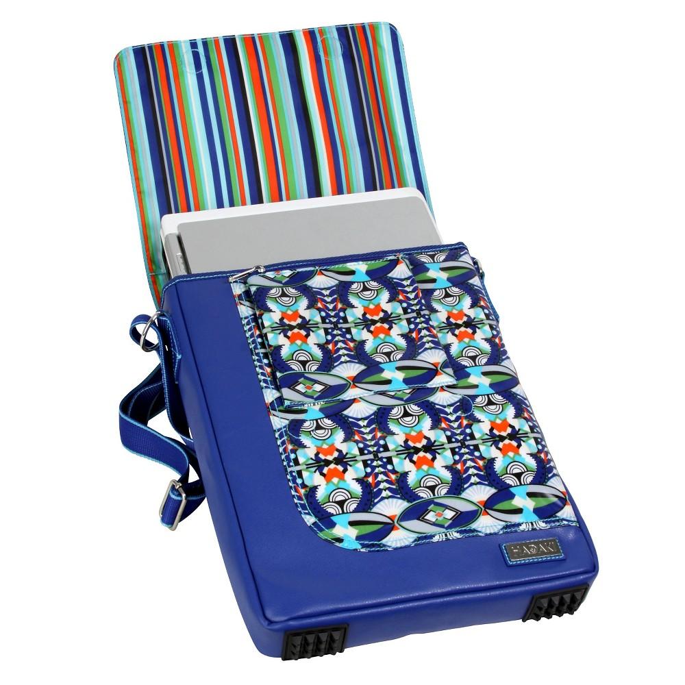Womens 15.4 Nylon Laptop Handbag, Blue/Multi-Colored