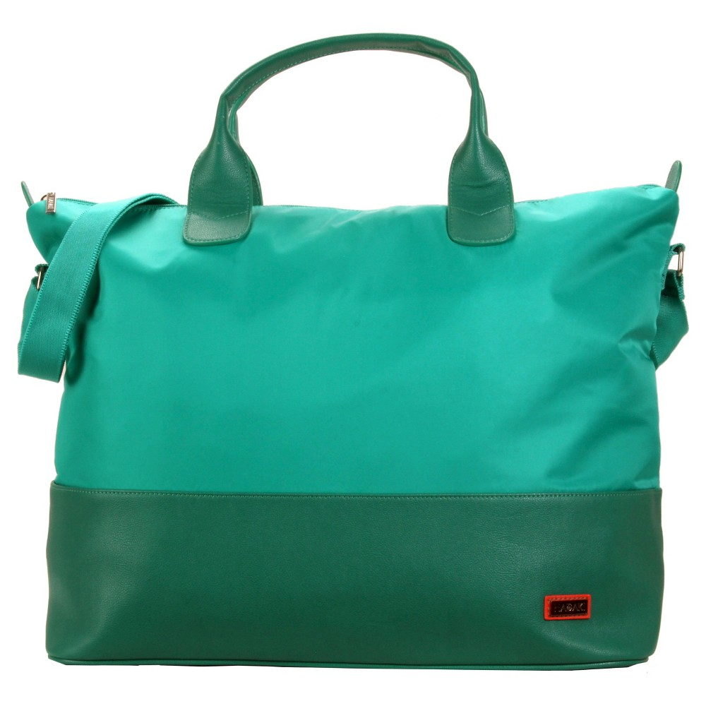 Womens Hamptons Nylon Weekender Handbag, Vivid Teal