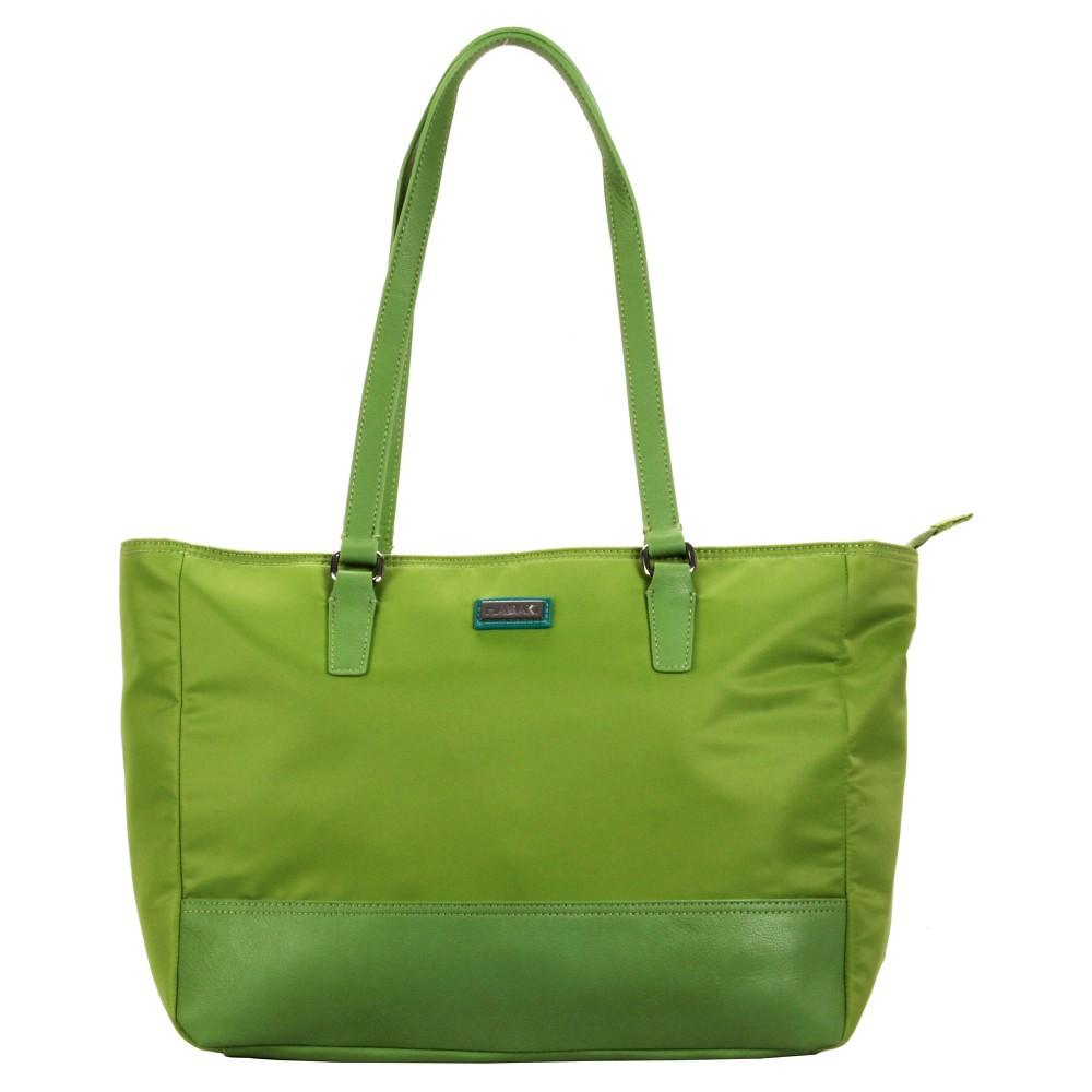 Womens Nylon Cassandra Tote Handbag, Size: Small, Green Light