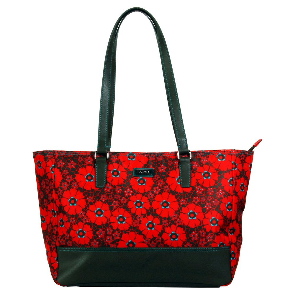 Womens Nylon Cassandra Tote Handbag, Size: Small, Red/Black