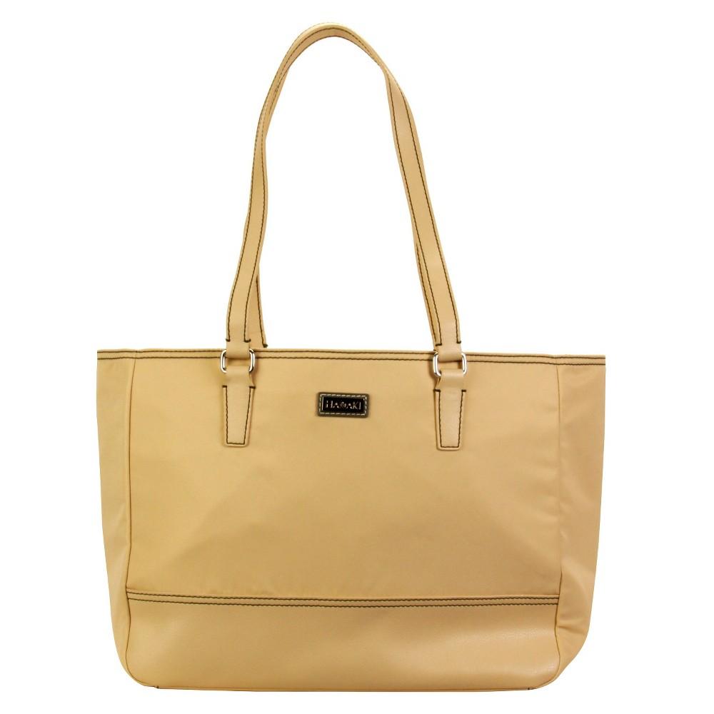 Women's Nylon Cassandra Tote Handbag, Size: Small, Beige Nude