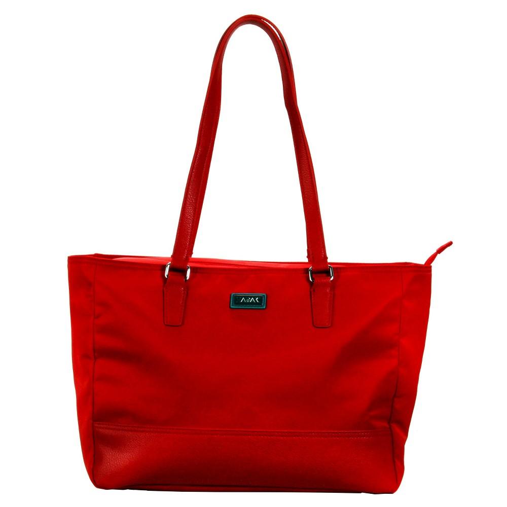 Womens Nylon Cassandra Tote Handbag, Size: Small, Red