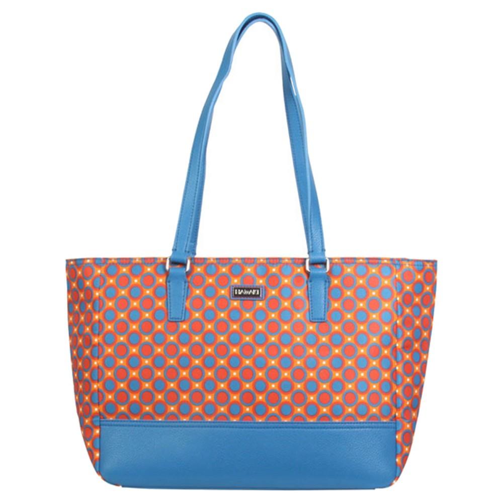 Womens Nylon Cassandra Tote Handbag, Size: Small, Multi-Colored/Yellow/Red/Bright Blue