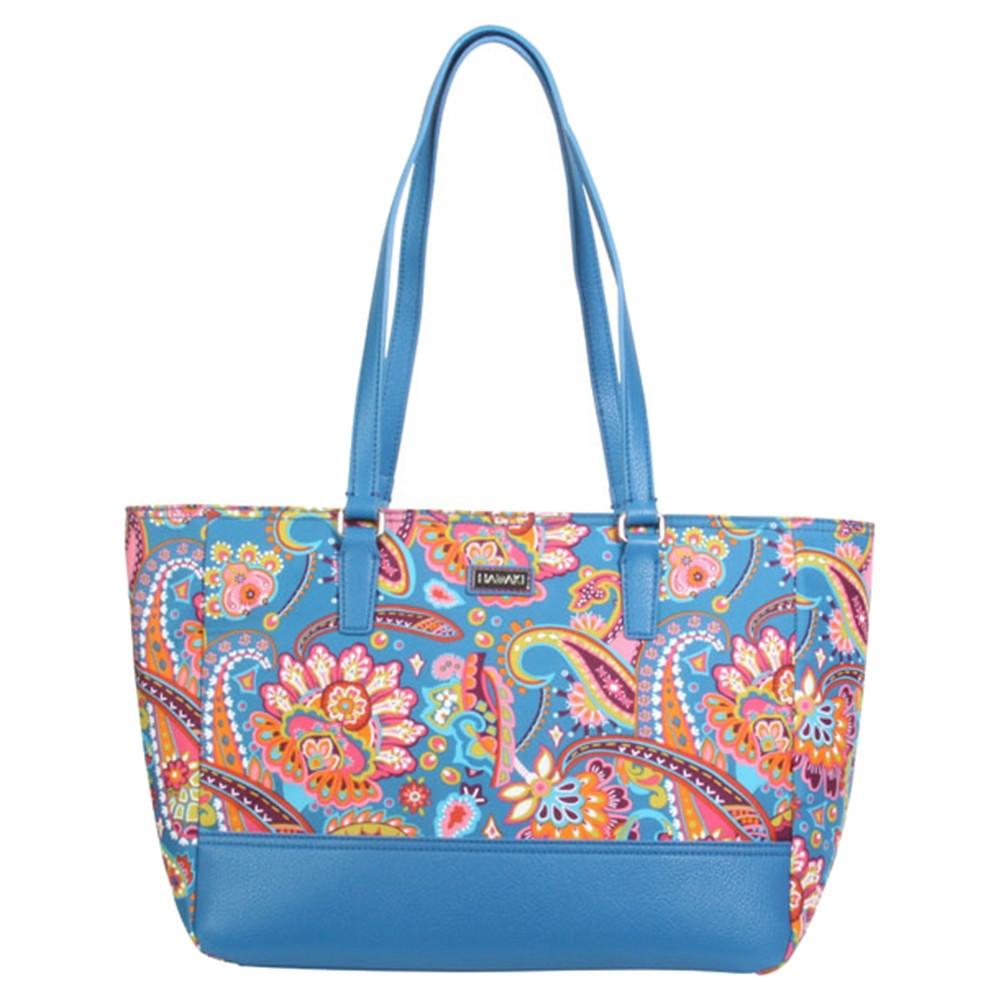 Womens Nylon Cassandra Tote Handbag, Size: Small, Multi-Colored/Orange/Dusty Plum/Bright Blue