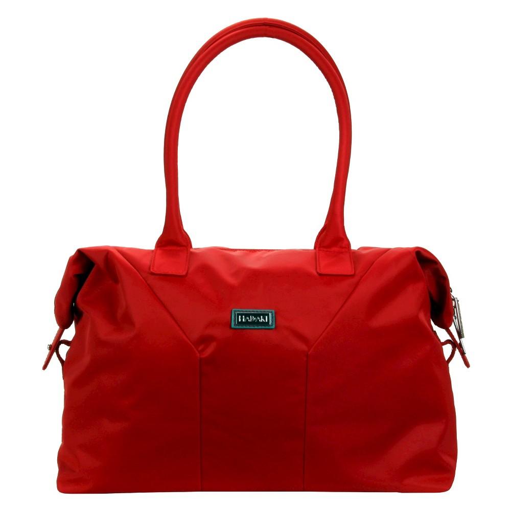 Womens Nylon Satchel Handbag, Size: Small, Red