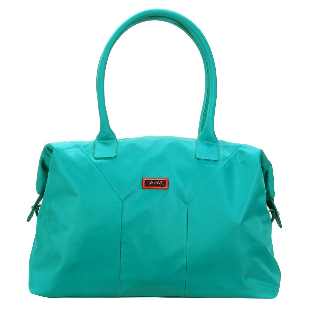 Women's Nylon Satchel Handbag, Size: Small, Vivid Teal