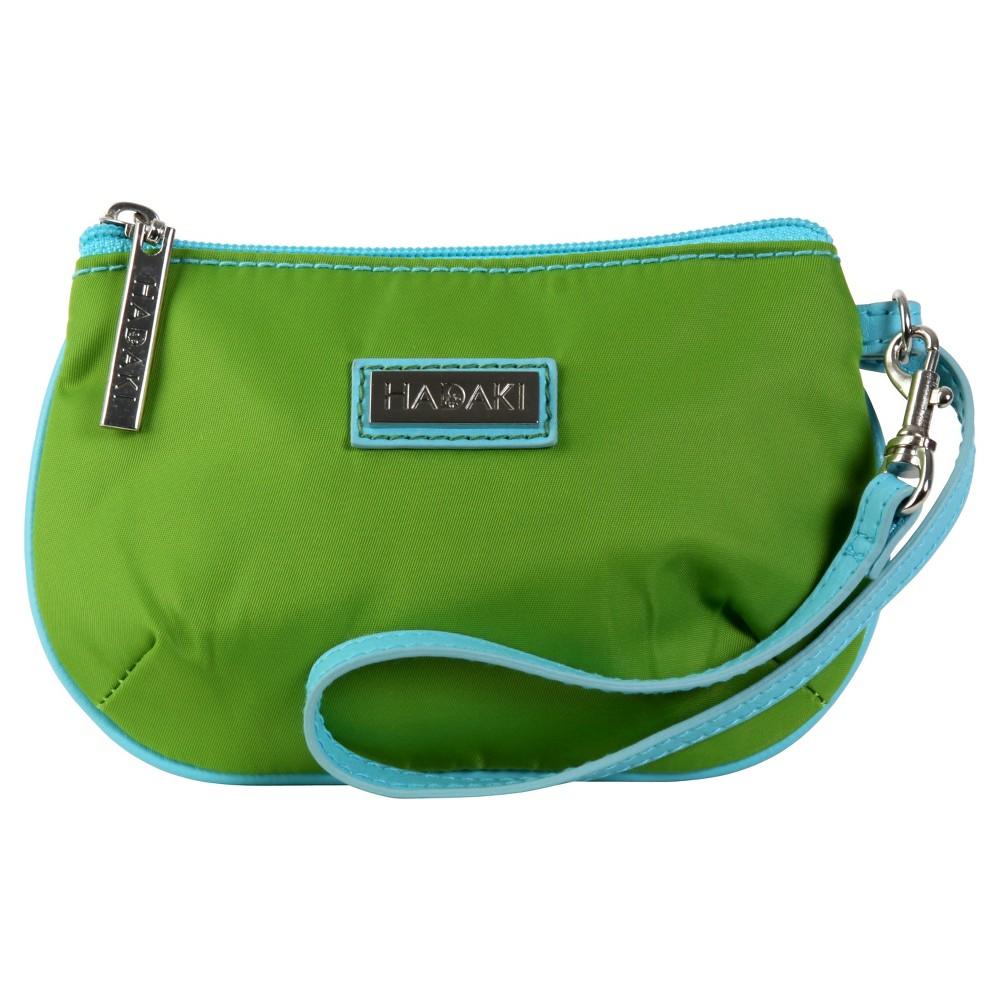 Womens Coated ID Wristlet Handbag, Multi-Colored/Blue