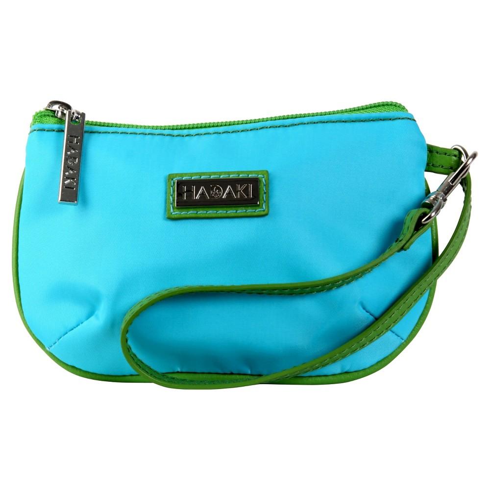 Womens Coated ID Wristlet Handbag, Multi-Colored/Apple Green