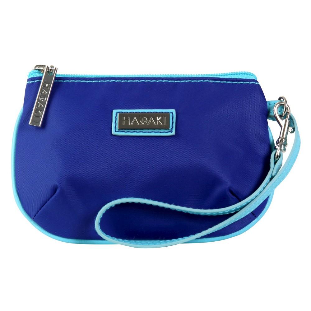 Womens Coated ID Wristlet Handbag, Multi-Colored/Apple Green/Blue