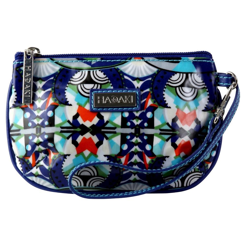 Womens Coated ID Wristlet Handbag, Blue/Multi-Colored