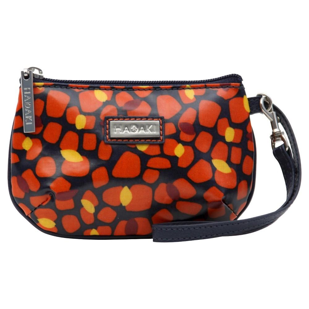 Womens Coated ID Wristlet Handbag, Multi-Colored/Orange/Yellow/Black