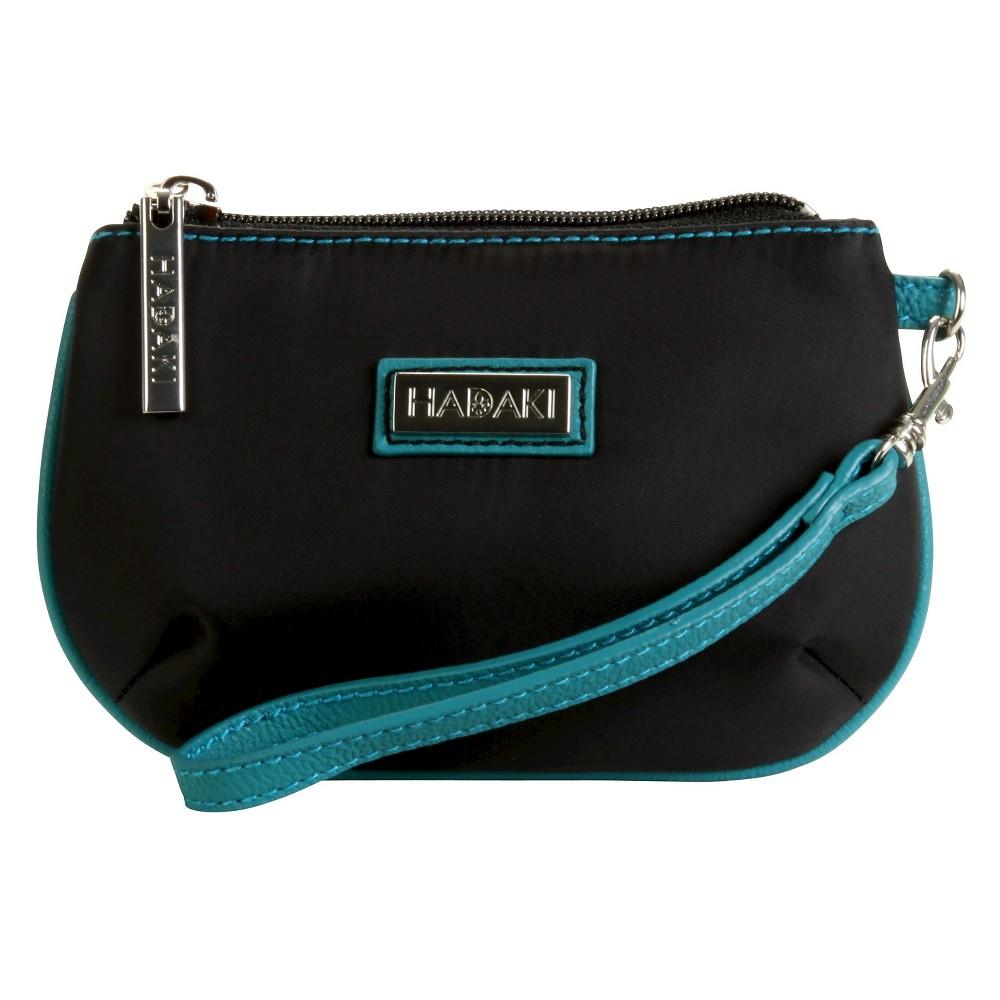 Womens Coated ID Wristlet Handbag, Multi-Colored/Blue/Black