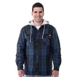 Dickies® - Men's Big/Tall Plaid Hooded Shirt Jacket