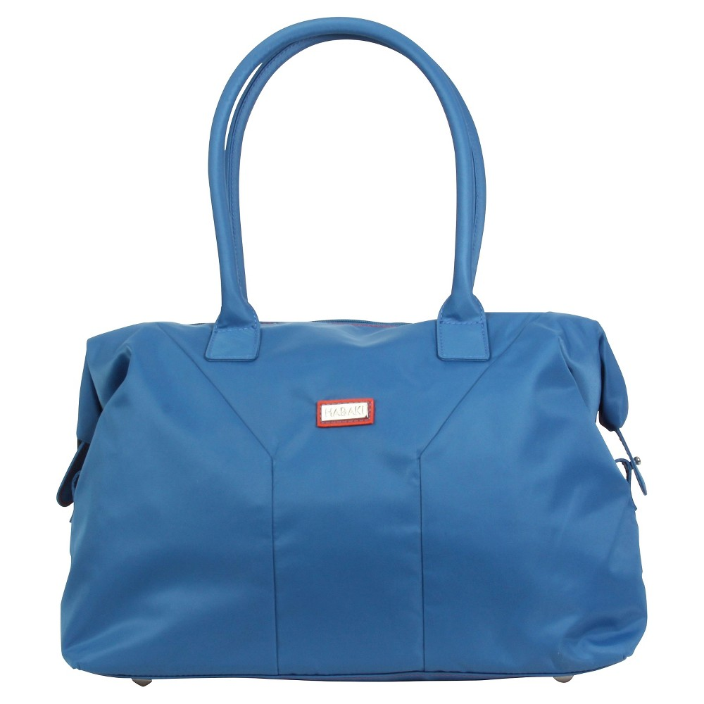 Womens Nylon Satchel Handbag, Size: Small, Bright Blue