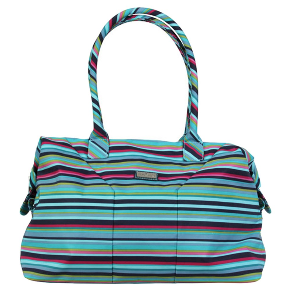 Womens Nylon Satchel Handbag, Size: Small, Multi-Colored/Pink/Blue/Bright Blue
