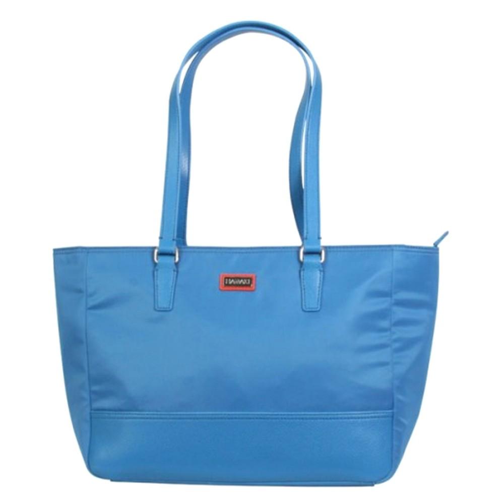Womens Nylon Cassandra Tote Handbag, Size: Small, Blue