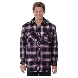 Dickies® - Men's Sherpa Lined Hooded Flannel Shirt Jacket