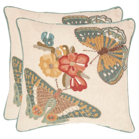 "Kelsey S/2 Throw Pillow (18""x18"") - Safavieh® - image 1 of 2"