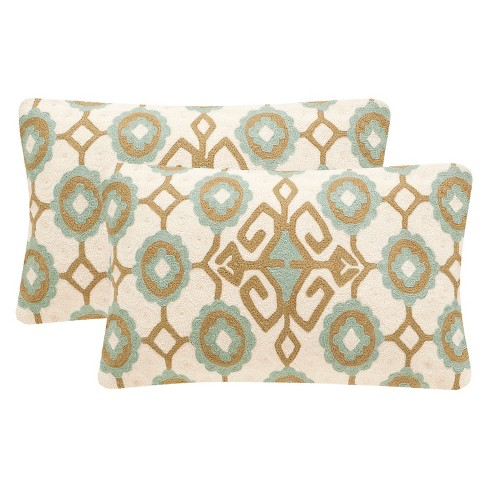 Green Taylor Throw Pillow Set of 2 - Safavieh® - image 1 of 2