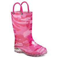 Toddler Girls' Light Up Western Rain Boots