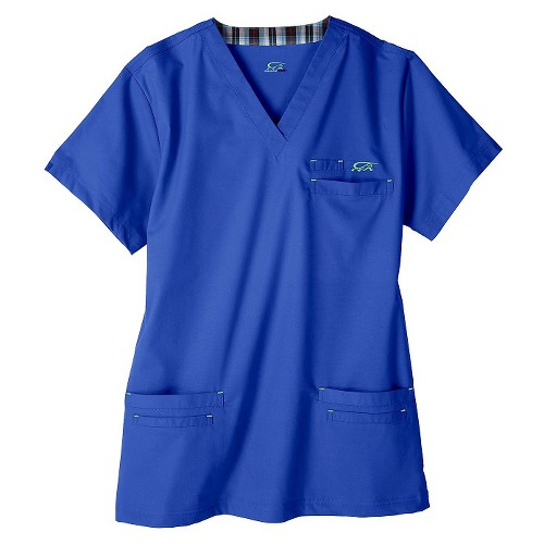 IguanaMed Men's Icon Scrub Top - Azure Blue(XS)