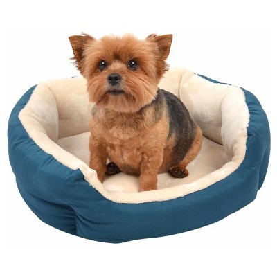 Oval Pet Bed - S - Peacock - Boots & Barkley™