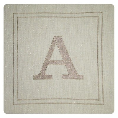 Monogram Throw Pillow Cover A - Threshold™