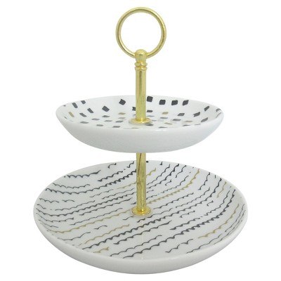 2-Tiered Trinket Tray - Threshold™