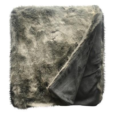 Grey Faux Fur Throw - Threshold™