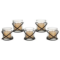 Orbits 5 Glass Candle Hurricane - Danya B®