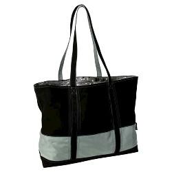 Big Easy Striped Cotton Canvas and Nylon Tote Handbag