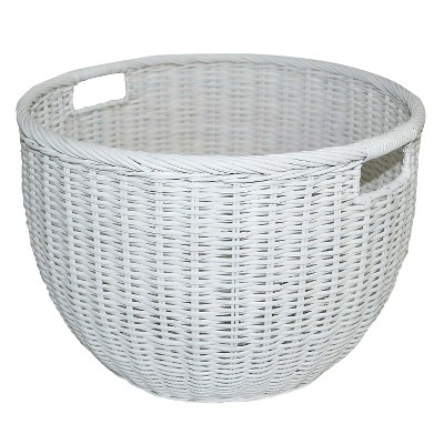 Rattan Basket Round White - Pillowfort™