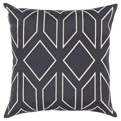 Slate Zurich Geometric Throw Pillow 20 x20  - Surya