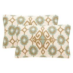 Green Taylor Throw Pillow Set of 2 - Safavieh®