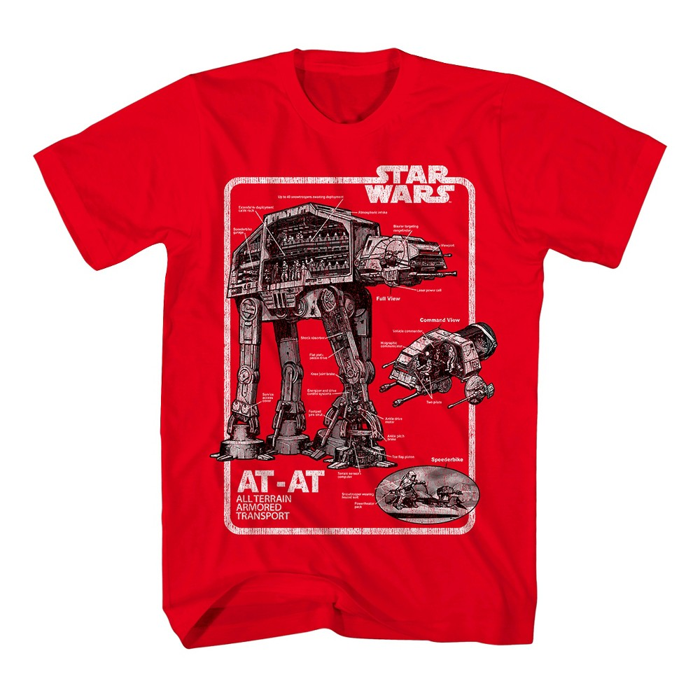 Star Wars Boys Action Graphic T-Shirt - Red XL
