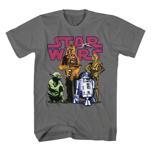 Boys' Star Wars Graphic T-Shirt - Grey - image 1 of 1