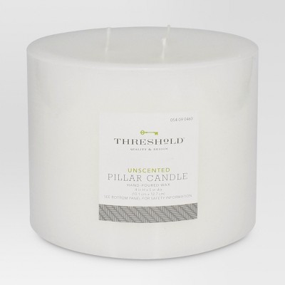 Unscented Pillar Candle White 4 x5  - Threshold™