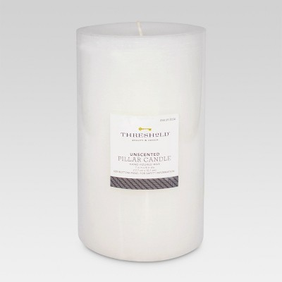 Unscented Pillar Candle White 7 x4  - Threshold™