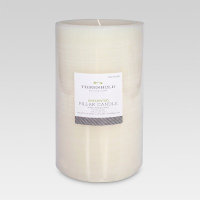 Unscented Pillar Candle Cream 7 x4  - Threshold™