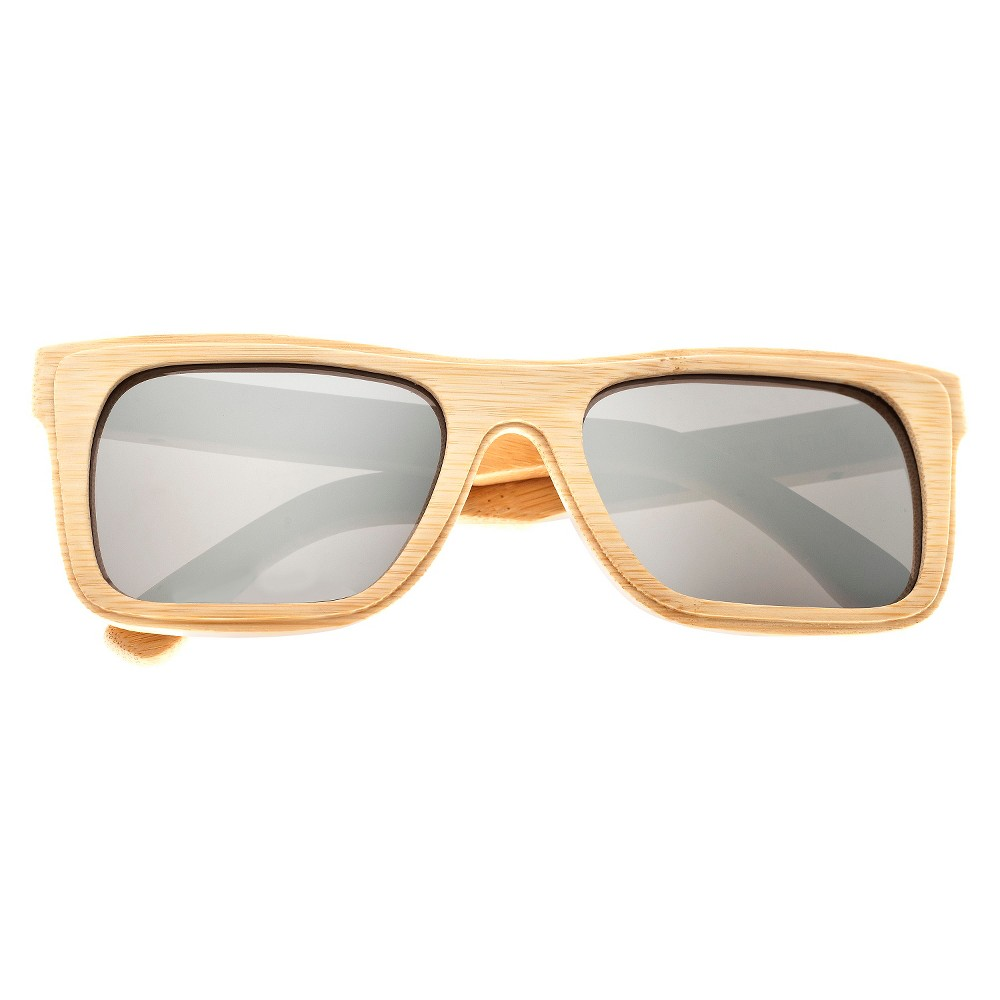 Earth Wood Ona Unisex Sunglasses with Silver Lens - Beige, Green