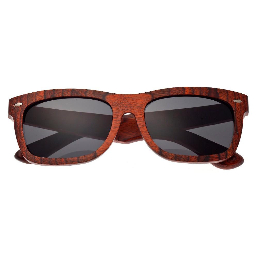Earth Wood Portsmouth Unisex Sunglasses with Black Lens - Orange, Deep Orange