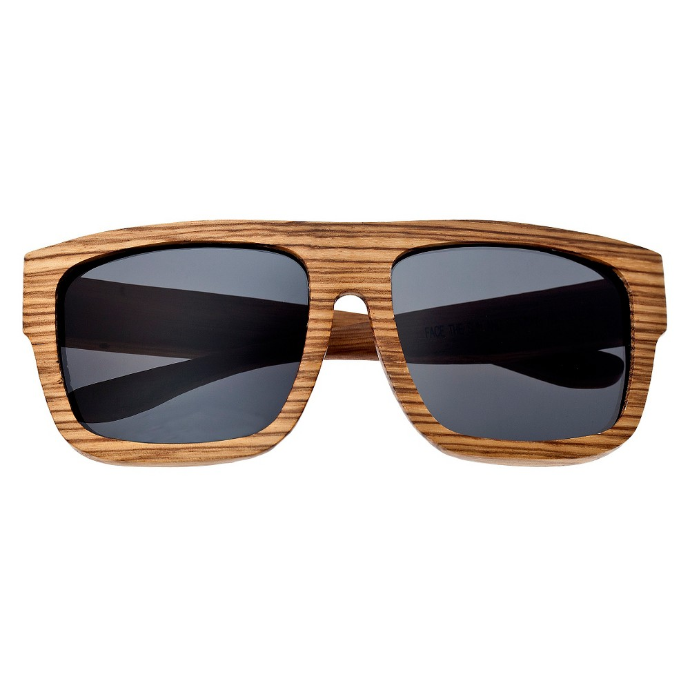 Earth Wood Hermosa Unisex Sunglasses with Black Lens - Bark (Brown)
