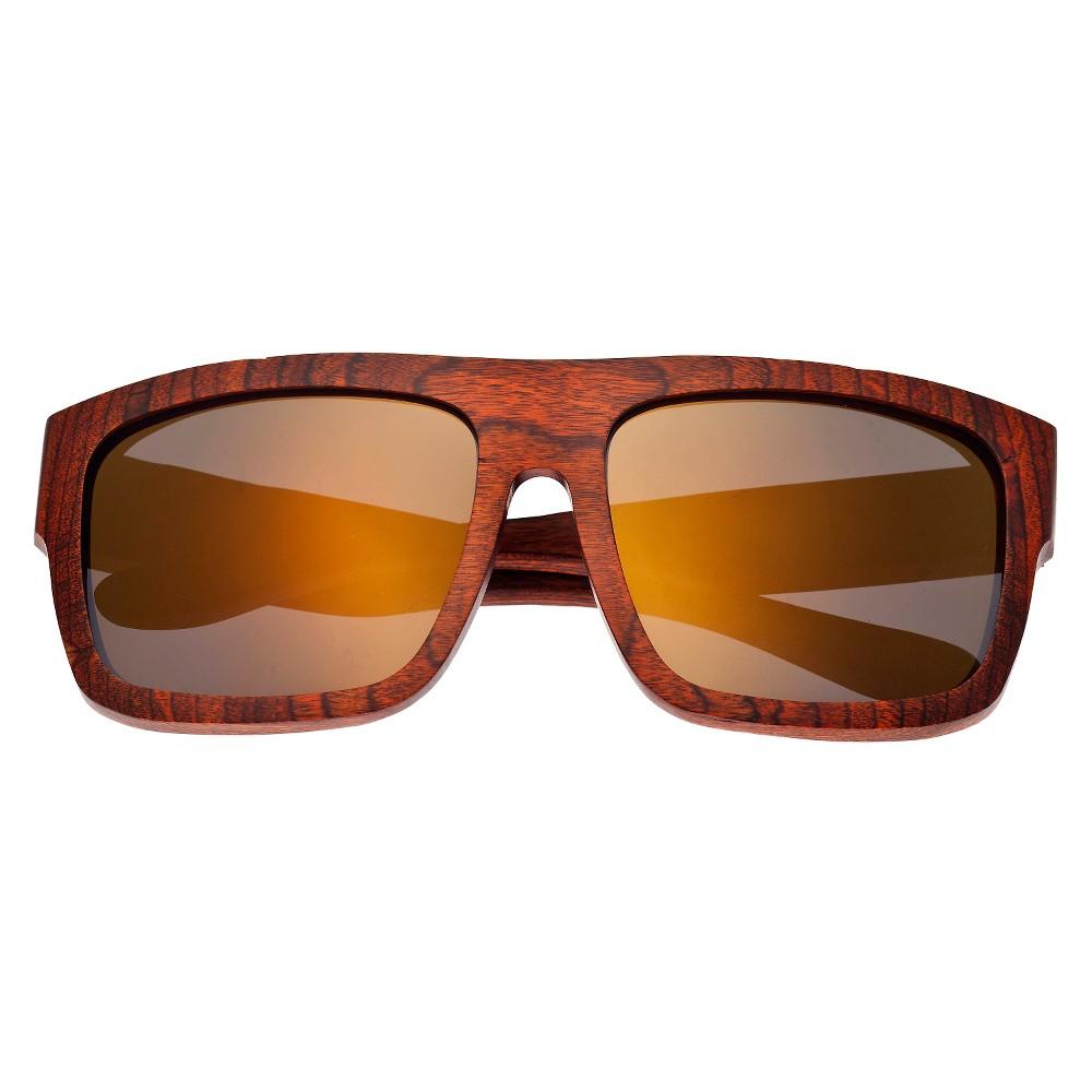Earth Wood Hermosa Unisex Sunglasses with Gold Lens - Orange
