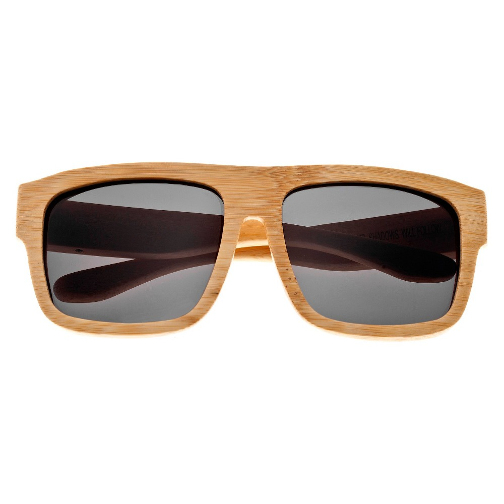 Earth Wood Hermosa Unisex Sunglasses with Black Lens - Beige, Green