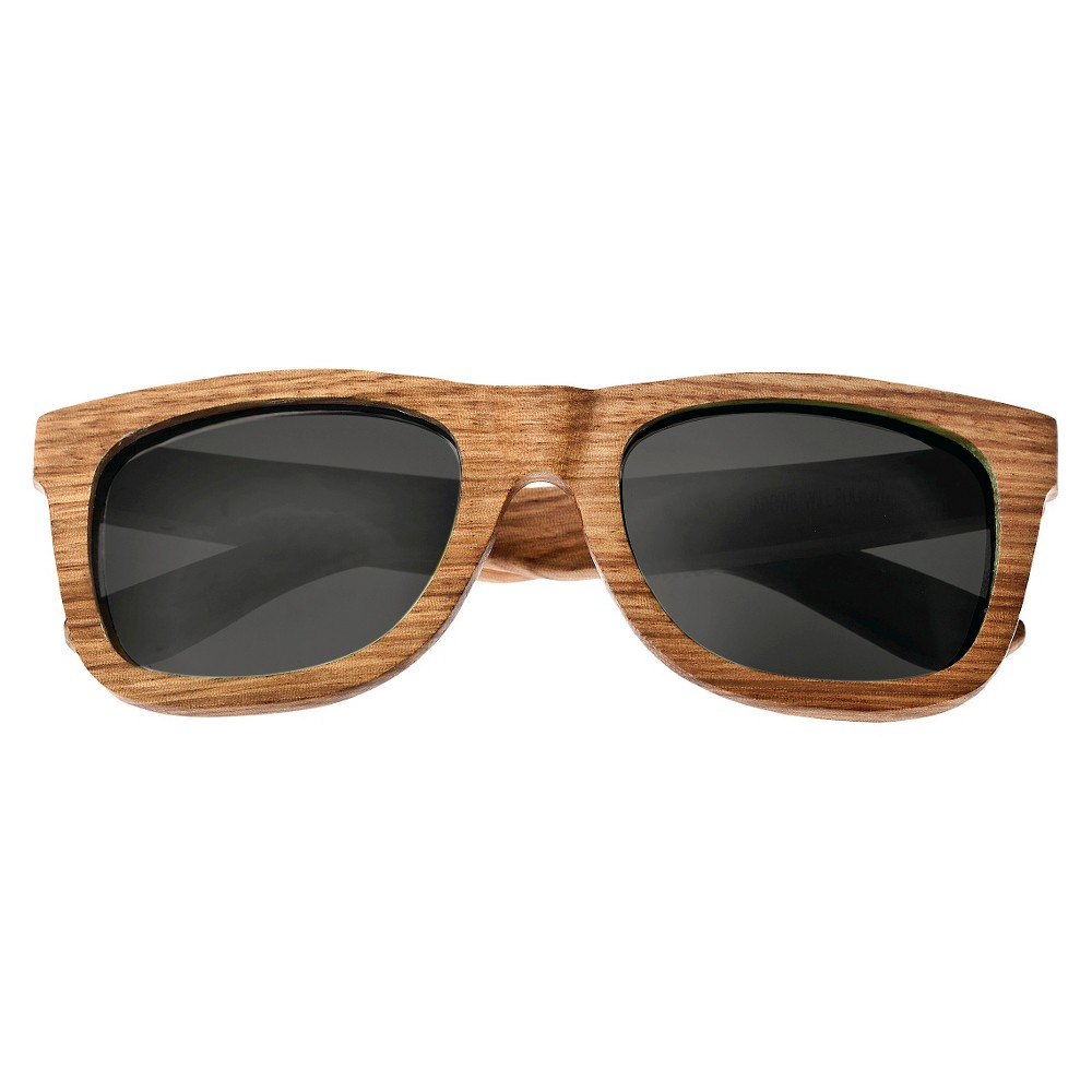 Earth Wood Panama Unisex Sunglasses with Red Lens - Brown